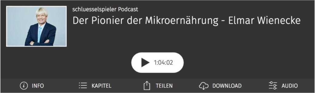 Der Pionier der Miktroernährung - Dr. Elmar Wienecke