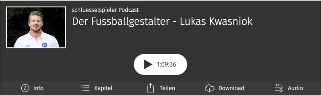 Lukas Kwasniok im schluesselspieler Podcast